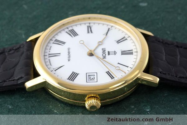 Used luxury watch Union Glashütte * gold-plated automatic Kal. ETA 2824-2 Ref. 8126-01-01-07  | 161947 05