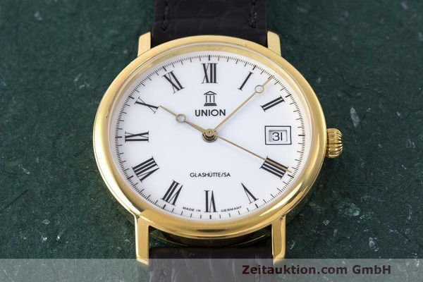 Used luxury watch Union Glashütte * gold-plated automatic Kal. ETA 2824-2 Ref. 8126-01-01-07  | 161947 14