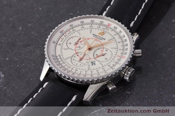Used luxury watch Breitling Montbrillant chronograph steel automatic Kal. B41 ETA 2892A2 Ref. A41370  | 161950 01