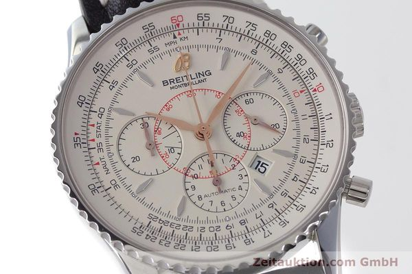 Used luxury watch Breitling Montbrillant chronograph steel automatic Kal. B41 ETA 2892A2 Ref. A41370  | 161950 02