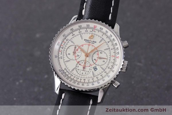 Used luxury watch Breitling Montbrillant chronograph steel automatic Kal. B41 ETA 2892A2 Ref. A41370  | 161950 04