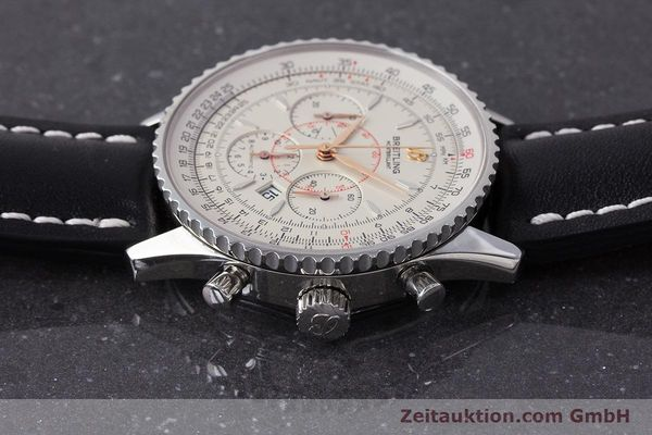 Used luxury watch Breitling Montbrillant chronograph steel automatic Kal. B41 ETA 2892A2 Ref. A41370  | 161950 05