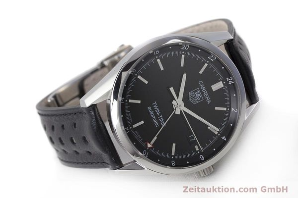 Used luxury watch Tag Heuer Carrera steel automatic Kal. 7 ETA 2893-2 Ref. WV2115  | 161951 03