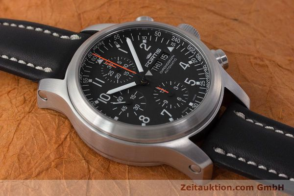 Used luxury watch Fortis B-42 chronograph steel automatic Kal. ETA 7750 Ref. 635.10.141.3  | 161952 15