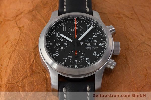 Used luxury watch Fortis B-42 chronograph steel automatic Kal. ETA 7750 Ref. 635.10.141.3  | 161952 16