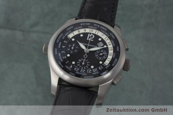 Used luxury watch Girard Perregaux * titanium automatic Kal. 3387 Ref. 4980  | 161953 04