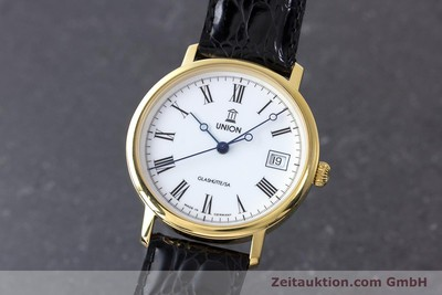 UNION GLASHÜTTE GOLD-PLATED AUTOMATIC KAL. ETA 2824-2 [161958]