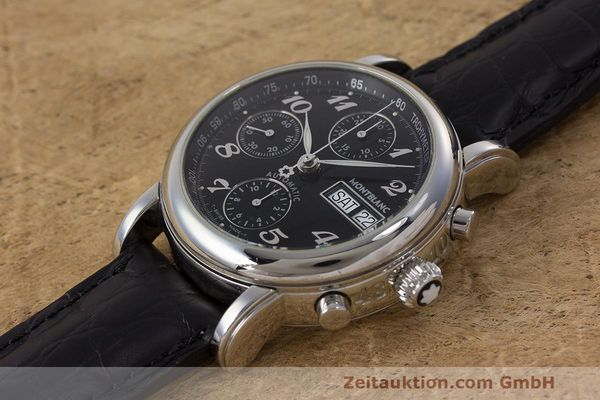 Used luxury watch Montblanc Meisterstück chronograph steel automatic Kal. 4810501 Ref. 7016  | 161959 01