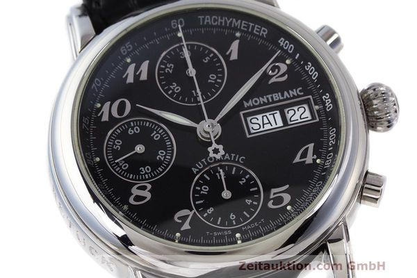 Used luxury watch Montblanc Meisterstück chronograph steel automatic Kal. 4810501 Ref. 7016  | 161959 02