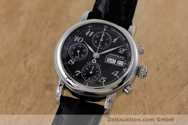 Used luxury watch Montblanc Meisterstück chronograph steel automatic Kal. 4810501 Ref. 7016  | 161959 04