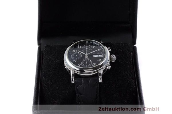 Used luxury watch Montblanc Meisterstück chronograph steel automatic Kal. 4810501 Ref. 7016  | 161959 07