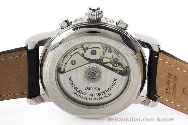 Used luxury watch Montblanc Meisterstück chronograph steel automatic Kal. 4810501 Ref. 7016  | 161959 09