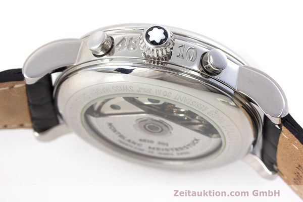 Used luxury watch Montblanc Meisterstück chronograph steel automatic Kal. 4810501 Ref. 7016  | 161959 11