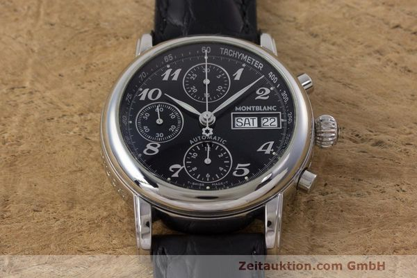Used luxury watch Montblanc Meisterstück chronograph steel automatic Kal. 4810501 Ref. 7016  | 161959 14