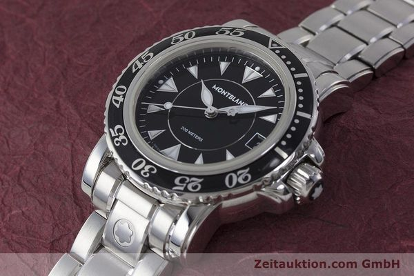 Used luxury watch Montblanc Meisterstück steel quartz Kal. ETA 955112 Ref. 7036  | 161960 01