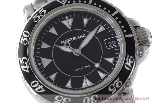Used luxury watch Montblanc Meisterstück steel quartz Kal. ETA 955112 Ref. 7036  | 161960 02