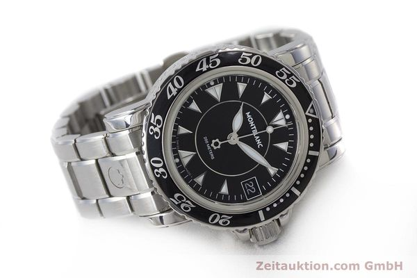 Used luxury watch Montblanc Meisterstück steel quartz Kal. ETA 955112 Ref. 7036  | 161960 03