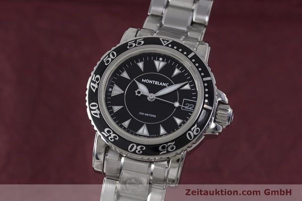 Used luxury watch Montblanc Meisterstück steel quartz Kal. ETA 955112 Ref. 7036  | 161960 04