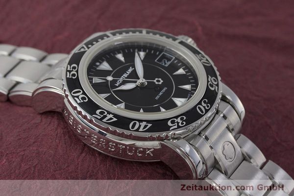 Used luxury watch Montblanc Meisterstück steel quartz Kal. ETA 955112 Ref. 7036  | 161960 13