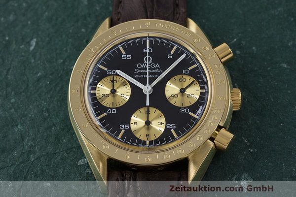 Used luxury watch Omega Speedmaster chronograph 18 ct gold automatic Kal. 1140 Ref. A1750033  | 161989 14