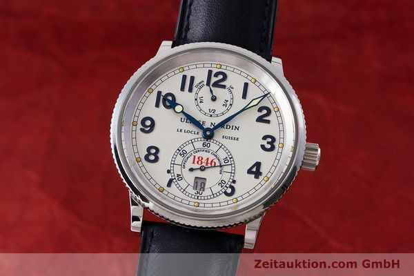 Used luxury watch Ulysse Nardin Marine Chronometer steel automatic Kal. ETA 2892A2 Ref. 263-22  | 161990 04