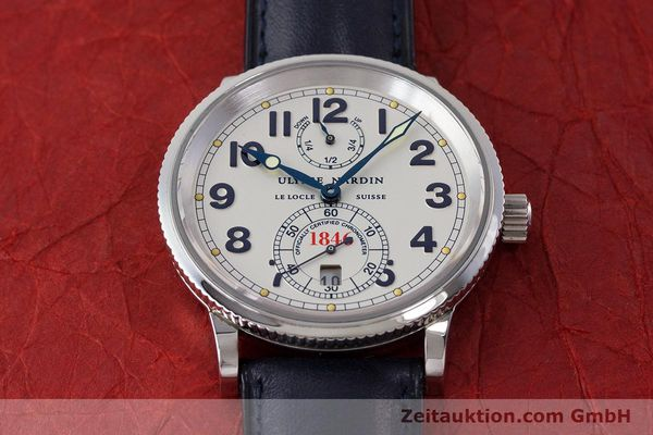 Used luxury watch Ulysse Nardin Marine Chronometer steel automatic Kal. ETA 2892A2 Ref. 263-22  | 161990 17