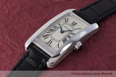 CARTIER TANK AMÉRICAINE 18 CT WHITE GOLD QUARTZ KAL. 157 LP: 9700EUR [161991]