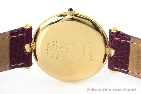 Used luxury watch Cartier * 18 ct gold quartz Kal. 81  | 161994 09