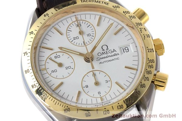 Used luxury watch Omega Speedmaster chronograph steel / gold automatic Kal. 1155 ETA 7750  | 161996 02