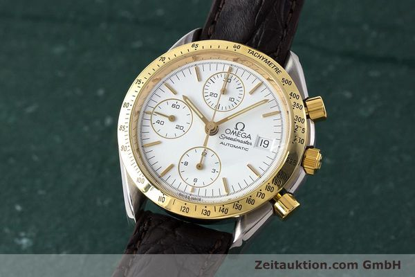 Used luxury watch Omega Speedmaster chronograph steel / gold automatic Kal. 1155 ETA 7750  | 161996 04