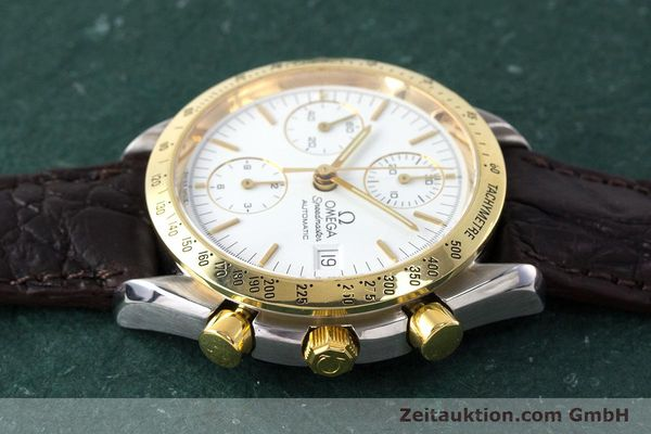 Used luxury watch Omega Speedmaster chronograph steel / gold automatic Kal. 1155 ETA 7750  | 161996 05