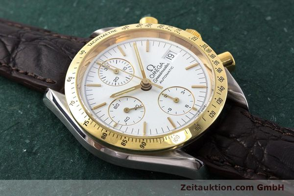 Used luxury watch Omega Speedmaster chronograph steel / gold automatic Kal. 1155 ETA 7750  | 161996 13