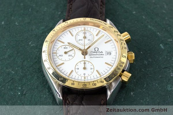 Used luxury watch Omega Speedmaster chronograph steel / gold automatic Kal. 1155 ETA 7750  | 161996 14