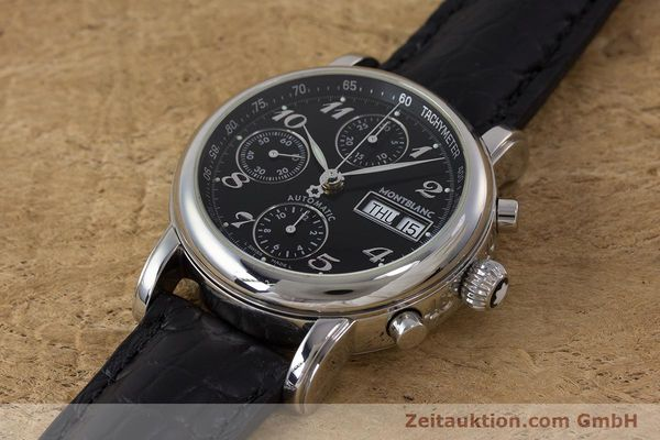 Used luxury watch Montblanc Meisterstück chronograph steel automatic Kal. 4810501 Ref. 7016  | 162000 01