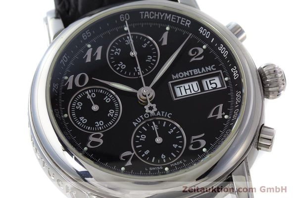 Used luxury watch Montblanc Meisterstück chronograph steel automatic Kal. 4810501 Ref. 7016  | 162000 02