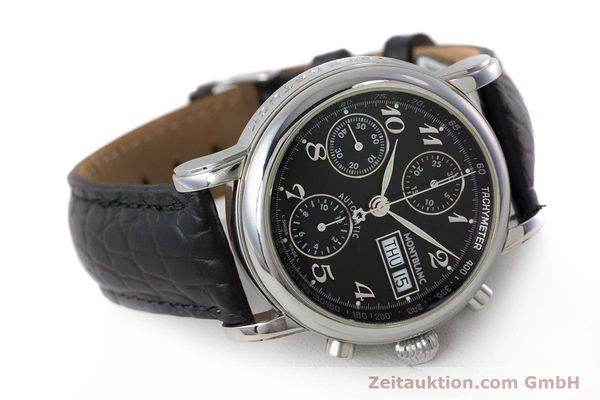 Used luxury watch Montblanc Meisterstück chronograph steel automatic Kal. 4810501 Ref. 7016  | 162000 03