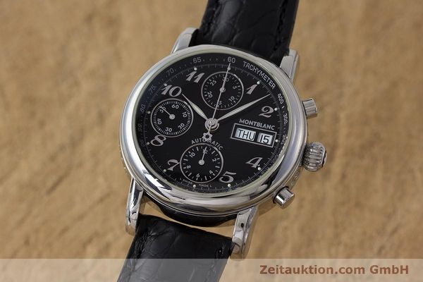 Used luxury watch Montblanc Meisterstück chronograph steel automatic Kal. 4810501 Ref. 7016  | 162000 04