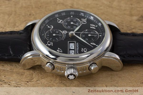 Used luxury watch Montblanc Meisterstück chronograph steel automatic Kal. 4810501 Ref. 7016  | 162000 05