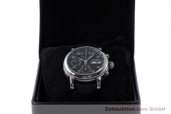 Used luxury watch Montblanc Meisterstück chronograph steel automatic Kal. 4810501 Ref. 7016  | 162000 07