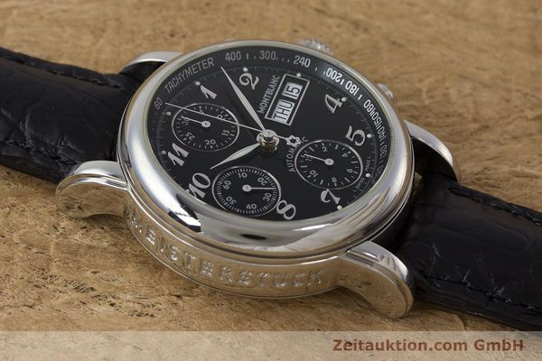 Used luxury watch Montblanc Meisterstück chronograph steel automatic Kal. 4810501 Ref. 7016  | 162000 13