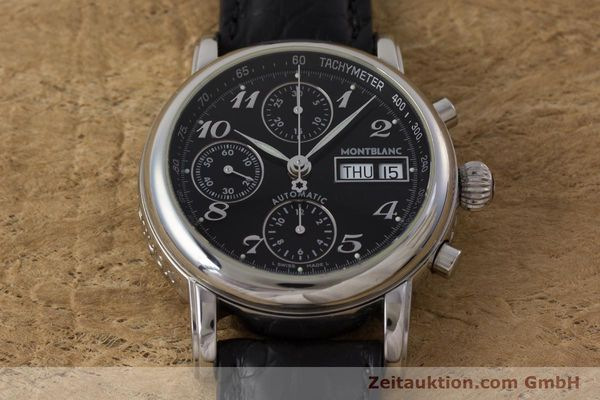 Used luxury watch Montblanc Meisterstück chronograph steel automatic Kal. 4810501 Ref. 7016  | 162000 14