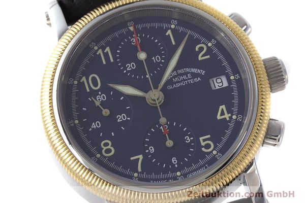 Used luxury watch Mühle Chronograph II chronograph steel / gold automatic Kal. ETA 7750 Ref. M1-31-50  | 162001 02