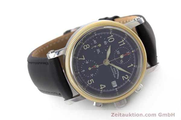 Used luxury watch Mühle Chronograph II chronograph steel / gold automatic Kal. ETA 7750 Ref. M1-31-50  | 162001 03