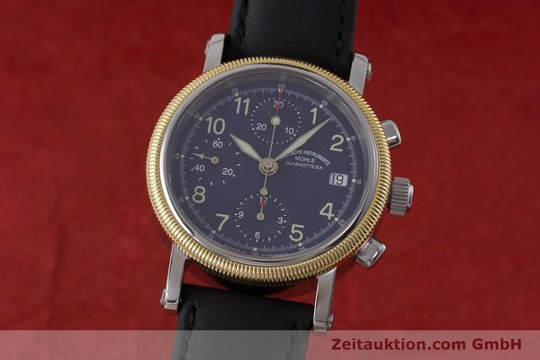 Used luxury watch Mühle Chronograph II chronograph steel / gold automatic Kal. ETA 7750 Ref. M1-31-50  | 162001 04