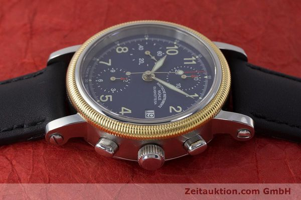 Used luxury watch Mühle Chronograph II chronograph steel / gold automatic Kal. ETA 7750 Ref. M1-31-50  | 162001 05