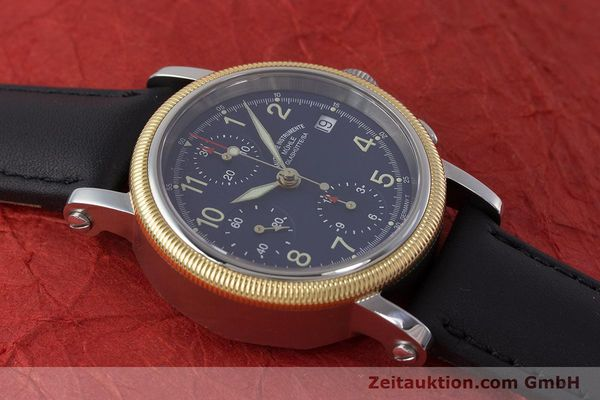 Used luxury watch Mühle Chronograph II chronograph steel / gold automatic Kal. ETA 7750 Ref. M1-31-50  | 162001 13