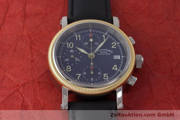 Used luxury watch Mühle Chronograph II chronograph steel / gold automatic Kal. ETA 7750 Ref. M1-31-50  | 162001 14