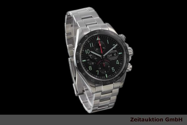Used luxury watch Fortis Cosmonauts Chronograph chronograph steel automatic Kal. Valj. 7750 Ref. 401.26.141  | 162008 01