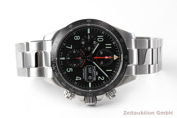 Used luxury watch Fortis Cosmonauts Chronograph chronograph steel automatic Kal. Valj. 7750 Ref. 401.26.141  | 162008 09
