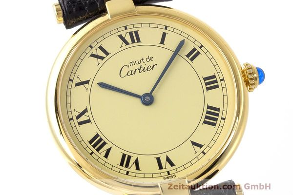 Used luxury watch Cartier Vermeil silver-gilt quartz Kal. 90  | 162010 02